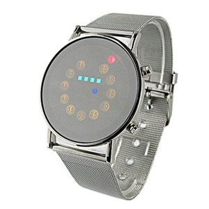 2020 New Red Blue LED Light Men Wrist Watch Stainless Steel Fashion For Special Charming Style Wholesale Mens Digital Watches