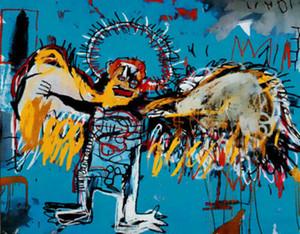 Jean Michel Basquiat Fallen Angel astratta della parete di arte della decorazione dipinta a mano HD Stampa della pittura a olio su tela di canapa di arte della parete della tela di canapa 200816