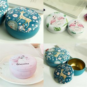Retro Round Tinplate Jug Box Candle Jars Iron Case Wax Concentrate Packaging Container Eyelash Gift Unicorn Candy Jewelry 2 4yy B2