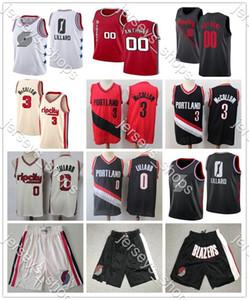 Herren PortlandWegBlazer 00 Carmelo Anthony 0 Damian Lillard C. J. McCollum 3 Jahrgang 22 Clyde Drexler Basketball Jersey 2019