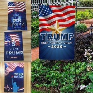 2020 US Election de transfert de chaleur Trump Bannière Drapeaux Jardin Bannière TRUMP 30 * 45cm 4 Styles DHL WX9-1797