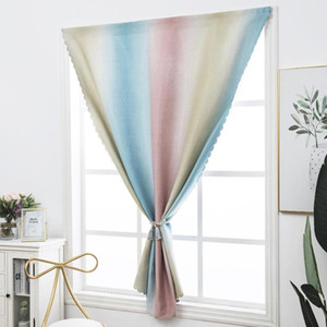 1Pc Gradient Sunlight Blackout Window Curtains for Living Room Bedroom Kitchen Tulle Curtains and Blackout for Window
