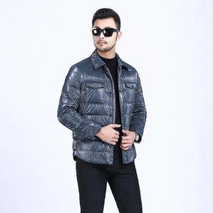 Утолщение Теплый Мужской Outwear 2020 Мужская зима пуховики осень зима Сплошной цвет моды нагрудные шеи