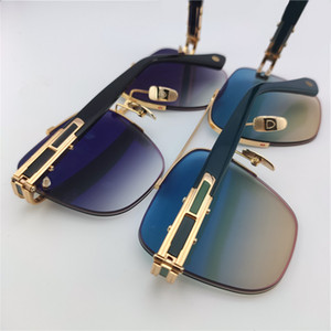 Luxury Vintage Brand Designer Sunglasses Rimless Eyewear Aviator Gold Frame Metal Fashion Women Men Sunglass 138