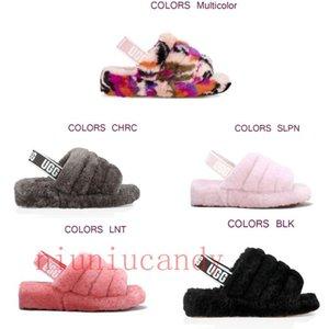 2020 oh sí hombres de diapositivas deslizadores de las mujeres peludas Australia pelusa sí mulitcolor diapositivasuggscasuales sandalias de la manera diapositivas de piel Slipp iI4f #