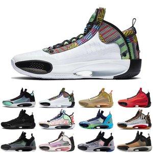 nouveau patrimoine 34 hommes Jumpman chaussures de basket-ball bleu Void Zoo Noah Bayou Black Boys Cat nfrared 23 ASG formateurs hommes chaussures de sport