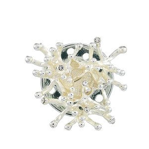 Designer Brooch fashion beautiful vintage Magnetic brooches for women luxury charm alloy heart-shaped brooches for Wedding bouquet