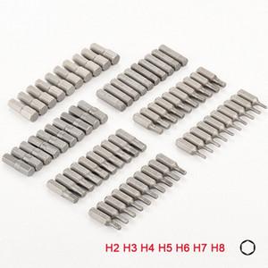 홈 손 공구강 육각 드라이버에 대한 10PCS 1/4 인치 육각 생크 H2 H3 H4 H5 H6 H7 H8 스크류 드라이버 비트 세트 oPpp 번호를 비트