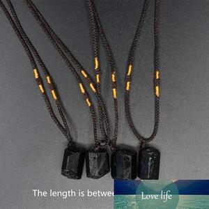 10 PCS natural black tourmaline pendant necklace plating crystal necklace chakra crystal healing stone pendant 18-23mm