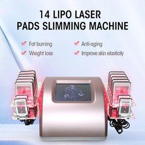 Dazzles Sağlık Taşınabilir Lipo Lazer Makinesi 14 Pedler LipolaseR Zayıflama Liposuction Selülit Makine Ce Belgesi azaltın
