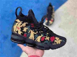 Kith 15 High Performance Ashes fantasma Mens di qualità di pallacanestro 15s arrivo scarpe da ginnastica Sport Dimensione 7-12
