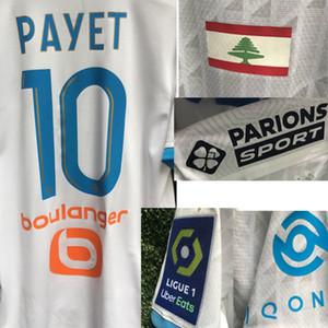 Lübnan Bayrağı için Onur Beyrut Blast Benedetto Thauvin ALVARO RONGIER Mandanda Jersey ile Tam 2020 OM Payet maillot Futbol Pat Sponsor