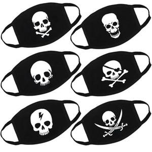 Novo designer máscara facial máscaras de moda personalizados Expression crânio dos desenhos animados Adulto American Flag Funny Face engraçado impressão Máscara de Halloween