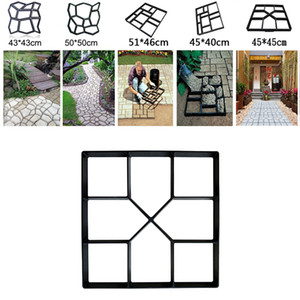 Garden Pavement Path Maker Mold Walk Brick Concrete Form Square Stepping Stone Reusable Molds For DIY Walkway Yards Walking