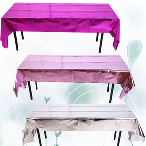 Aluminum Foil Table Cloth Cover Disposable Christmas Halloween Waterproof Party Event Table Cloth Cover 270*100cm KKA8063