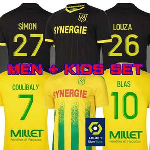 20 21 FC Nantes camisa de futebol casa longe maillot de pé 2020 conjuntos de futebol 2021 SIMON Louza A TOURE BLAS COCO COULIBALY Homens KIDS