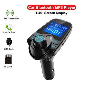 새로운 T11 LCD 블루투스 핸즈프리 자동차 자동차 키트 A2DP 5V 2.1A의 USB 충전기 FM 송신기 무선 FM 변조기 오디오 음악 플레이어와 패키지