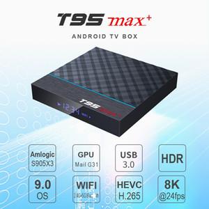 Android TV Box T95 MAX Plus Android 9.0 Box Amlogic S905X3 4 + 32 64GB Bluetooth 4.0 2.4G + 5G Wi-Fi Поддержка Smart TV
