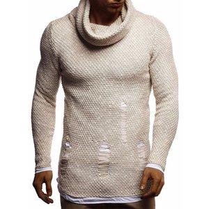 MUYOGRT masculino caliente sudadera Ropa Otoño Invierno suéteres de los hombres Moda de punto cultivan el cuello alto con capucha