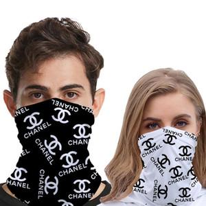 Diseños de impresión de letras Máscaras unisex al aire libre de la bicicleta media mascarilla Ciclismo Pañuelos bufanda venda de la manera Mutilfunction Headwear cabeza bufandas