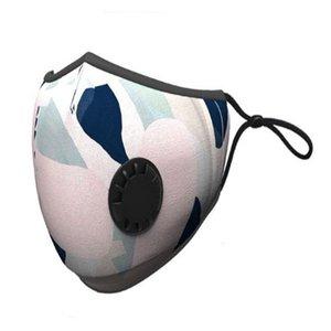 Válvula face Aspirador de respiração várias cores Filtrar mutável Máscara Pads Dustproof pano de protecção com pacote de varejo Dhc803