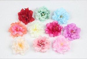 Jefes de 9 cm de flor artificial de seda Peony Rose para la fiesta de la boda decoración del pelo de artesanía floral G626