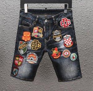 20SS Нового известного бренд дизайнер давно разорвал молодые мягкой Индивидуальность мужских джинсов мягких качеств моды роскоши велосипедист мужчины горячей продажа D2 Jean шорты