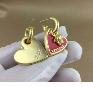 Fashion New arrive Titanium steel Heart Love earrings for woman jewelry 18k Gold plated 10MM and 14MM wide girl gift