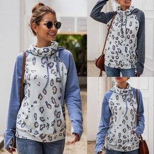 Imprimer lambrissé T-Shirt Femme Pull Hauts Casual Womens Designer Hoodies Automne Hiver manches longues Sexy Leopard