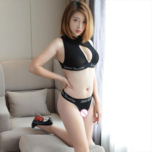 Sexy Gathered Bra Open Bust Transparent Tight Vest Sleeveless Short Top Low Waist T pant Ice Silk See Through Sexy Lingerie