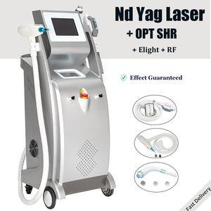 5 1 개 다기능 미용기 레이저 IPL 제모 ND : YAG 레이저 문신 제거 장비 RF 페이스 리프트 미용 기기 IN