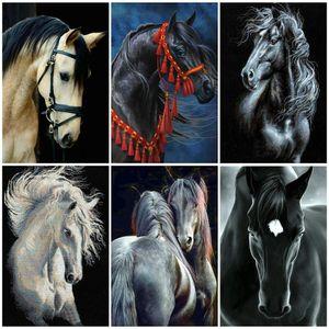 стены искусства 5D DIY Алмазные вышивки крестом лошади Kit Полный Квадратный Круглый Алмазная Картина животных Мозаика украшения стены