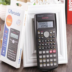 Handheld Student Scientific Calculator 2 Line Display 82MS Portable Multifunctional Calculator for Mathematics Teaching