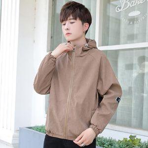 Pop2019 Printemps Hommes coréen Même tendance Chapeau de Teenagers Veste refroidissent Temps personnalité Slim Beau casaque Joker