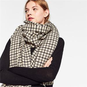 Otoño e invierno nuevo producto pata de gallo bufanda chal de cachemira imitación borla gruesa bufanda de encargo al por mayor de la fábrica