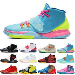 6 hommes les plus récents Asie de Jumpman Baskteball chaussures Etats-Unis Prise de vue Horloge N7 piscine Neon Graffiti Oreo formateurs hommes de Kyrie de taille de sport 40-46