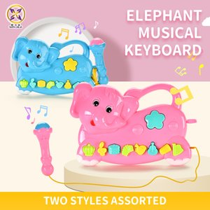 kid toys Children music toy Elephant musical keyboard Music microphone Educational toys 2020 hot selling gift of the child