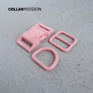 Розничная торговля (металлическая пряжка + регулировка пряжки + D кольцо / комплект) DIY ошейник розовых 25ммы тканого швейное аксессуар спрей краска пряжка набора