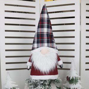 Grande Gnome da árvore de Natal do chapéu de coco enfeites 25 polegadas Grande de Santa Gnomes Plush Scandinavian Detalhes no DHE1255
