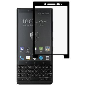 Full Screen Ausgeglichenes Glas-Film für Blackberry TASTE2 0.3mm 9H Oberflächenhärte 2.5D Siebdruck (schwarz)