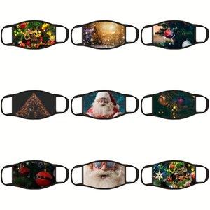 Máscara de seda ojo del sueño Papá Noel Piel de leopardo Eye Care recorrido de la herramienta dormir Er sombra de ojos vendados dormir Santa Claus máscaras al por mayor # 432