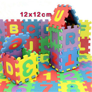 Wholesale-36Pcs Environmentally schiuma EVA di puzzle numeri + lettere Gioca Mat Puzzle Tappetini bambino Moquette rilievo giocattoli per i bambini Tappeto giocattolo K152