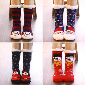Christmas decoration family floor socks adult winter indoor antiskid warm socks thickened wool shoes and socks T500273
