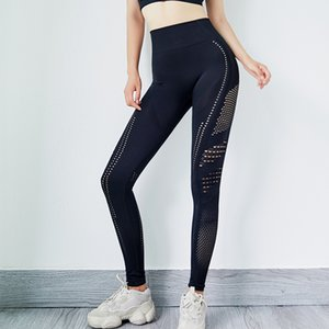 Yoga Pants for Women Mesh Seamless Triangle High Waist Tights Leggings Female Sports Sweatpant Gym Workout Fitness Cloth 1738
