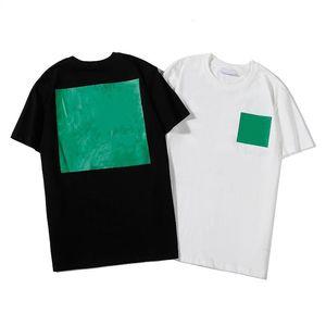 Мода футболки лето Человек женщина Футболка Одежда Street Wear Crew Neck коротким рукавом тройники 2 Цвет верхнего качества