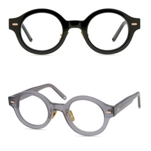 Men Optical Frames Glasses Brand Women Retro Round Eyeglasses Frames Vintage Plank Spectacle Frame Myopia Glasses Black Eyewear With Box