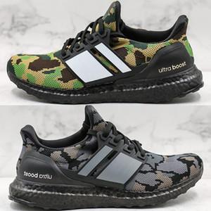 2020 Ape Ультра подталкивания Camo пакет Обувь Мужчины Ultraboost UB Черный Серый Зеленый кроссовки Размер 40-46