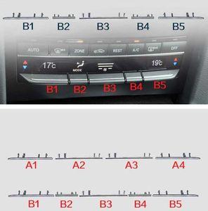 Кнопка автомобиля гальванических Strip Центральный блок управления Кондиционер панель Кнопка Рамка Обрезка для Mercedes Benz W212 E E-Class E300 E260