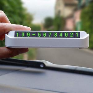 Balight Auto Temporary Stoppschild Parken Karte Luminous Telefonnummernschild Auto-Zubehör