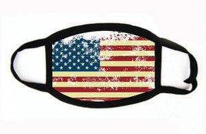 Отсутствие Маска Американские Избирательные Поставки пылезащитной Печати маска Универсальных для мужчин Женщина американского флага маски партии маски # 437